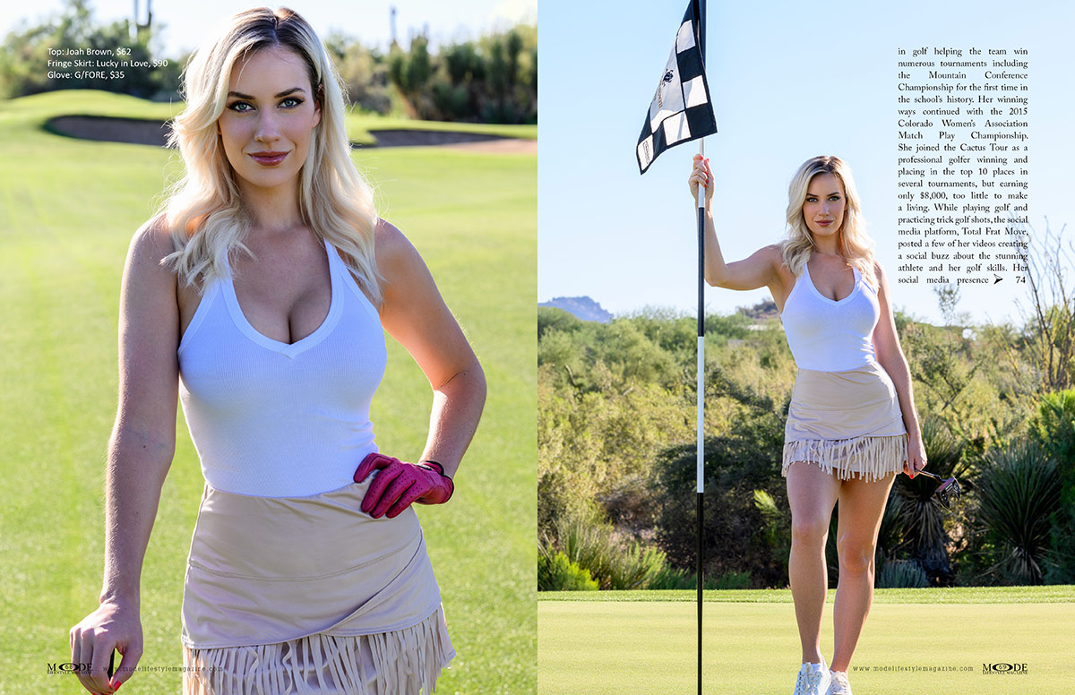 Paige Spiranac- MODE Reasons To Be Thankful 2021 Edition Page: 68-69