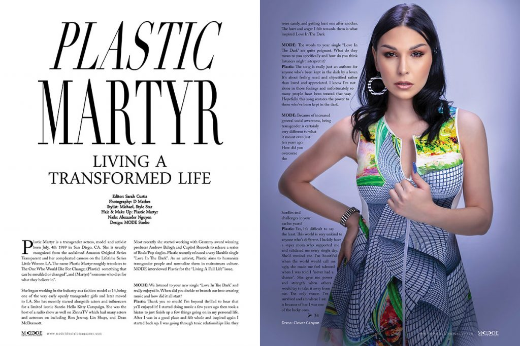 Plastic Martyr - Living A Full Life Issue - MODE Lifestyle Magazine 2020 - Page: 30-31