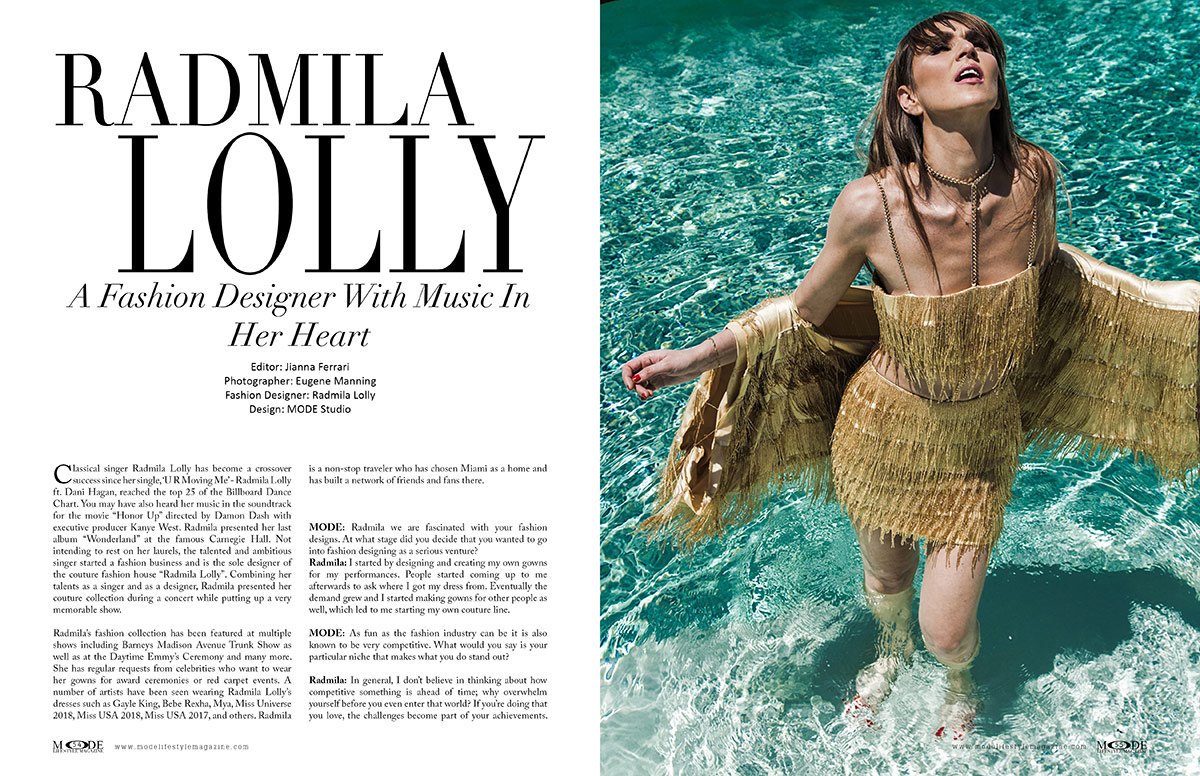 Radmila Lolly - Fashion Designer with Music In Her Heart - MODE Page 54 - 55