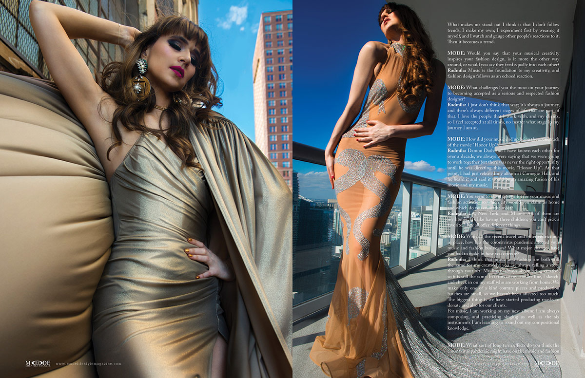 Radmila Lolly - Fashion Designer with Music In Her Heart - MODE Page 56 - 57