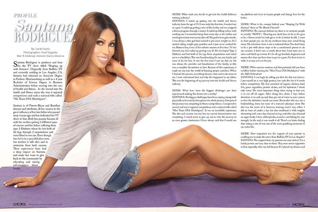 Santana Rodriguez - Mode Lifestyle Magazine Living A Full Life 2020 Issue: Page 16-17