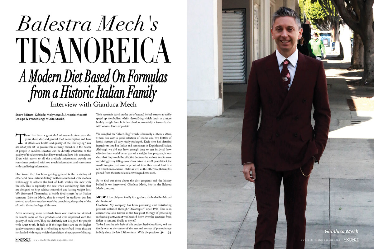 TISANOREICA - A modern diet from a historic Italian family. Interview with Gianluca Mech