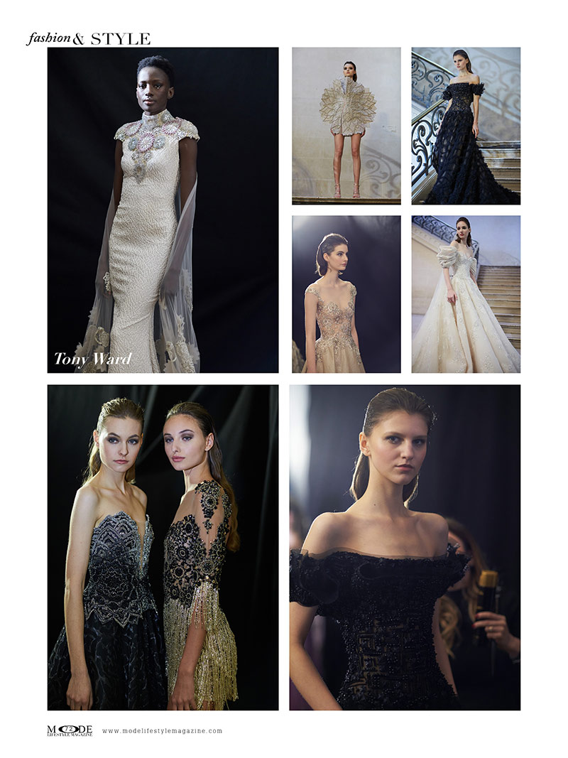 "Tony Ward - Spring Summer 2020 Haute Couture Fashion Week - Mode Lifestyle Magazine ""Living A Full Life"" Issue 2020 Page: 72"