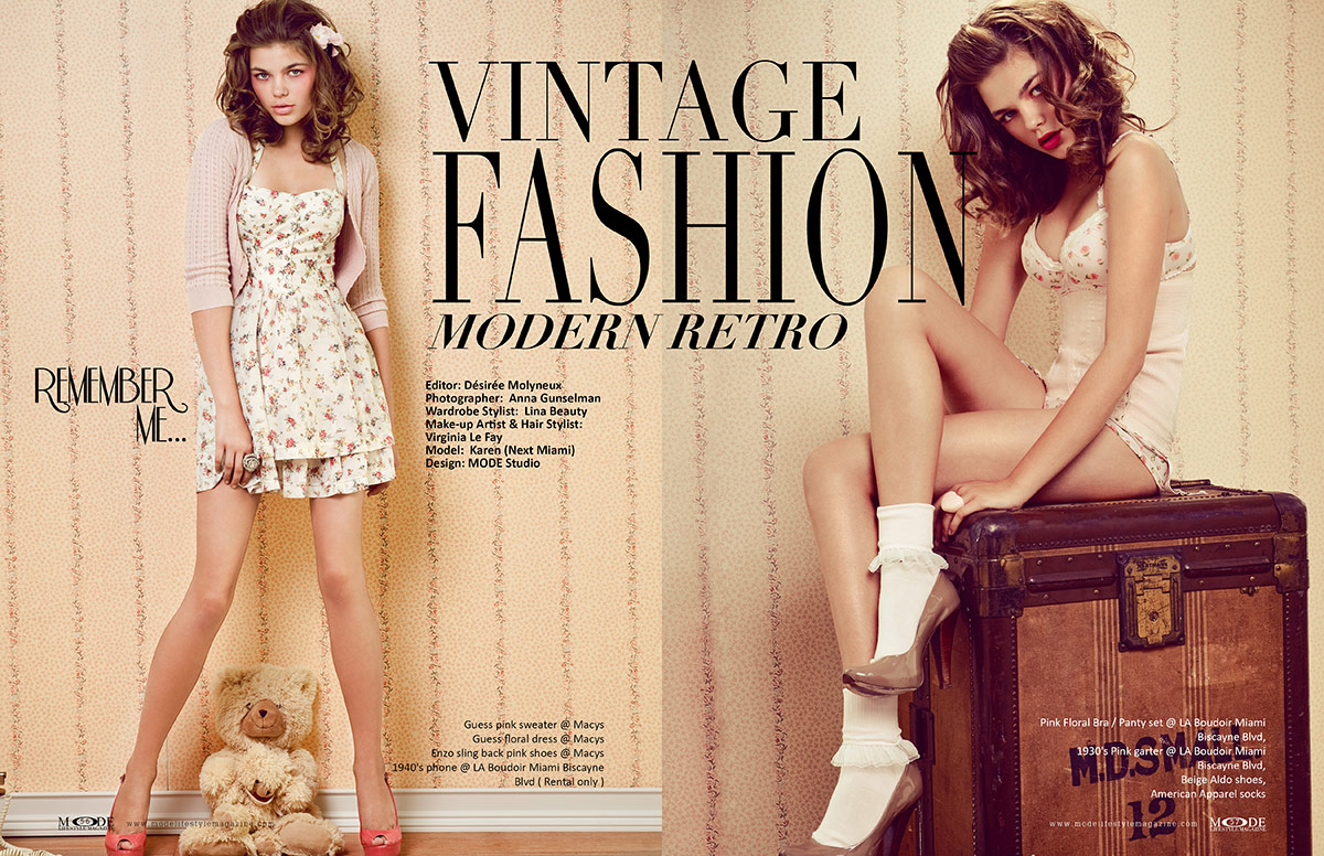 Vintage Fashion - Modern Retro: MODE Reasons To Be Thankful 2021 Edition - Page 56-57