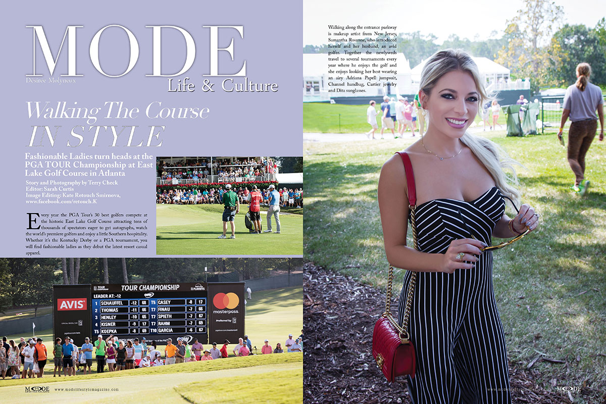 Walking The Course In Style. MODE-NovDec-2017-Page-94-95