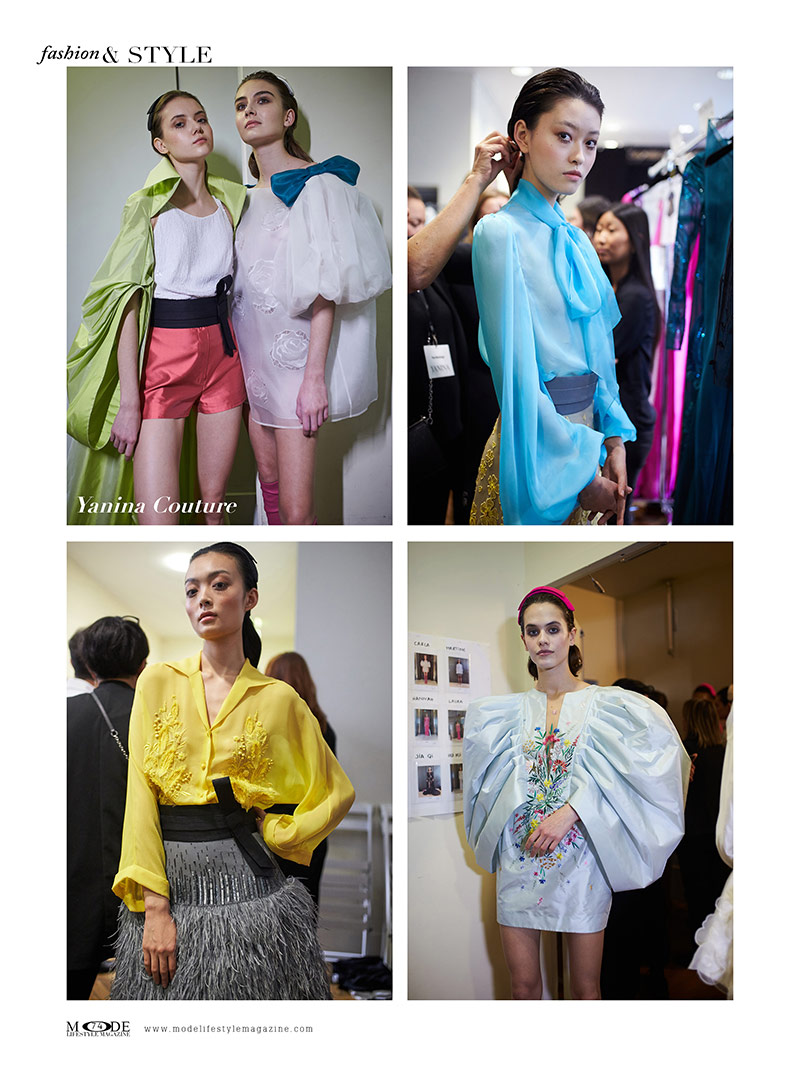"""Yanina Couture - Spring Summer 2020 Haute Couture Fashion Week - Mode Lifestyle Magazine """"Living A Full Life"""" Issue 2020 Page: 74"""