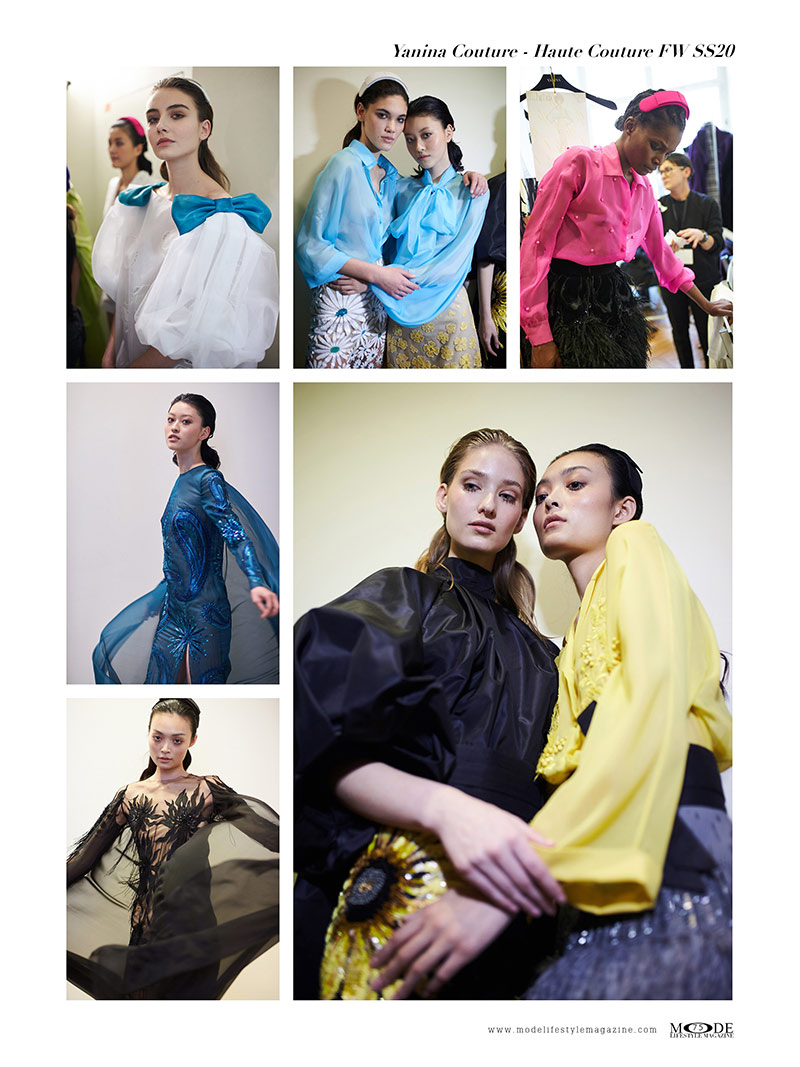 """Yanina Couture - Spring Summer 2020 Haute Couture Fashion Week - Mode Lifestyle Magazine """"Living A Full Life"""" Issue 2020 Page: 75"""