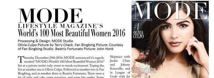 MODE's World's 100 Most Beautiful Women 2016